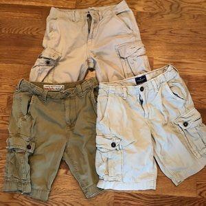 American Eagle Bundle Cargo Khaki Shorts